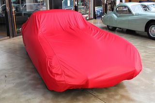 Car-Cover Satin Red für Jaguar E-Type 2+2