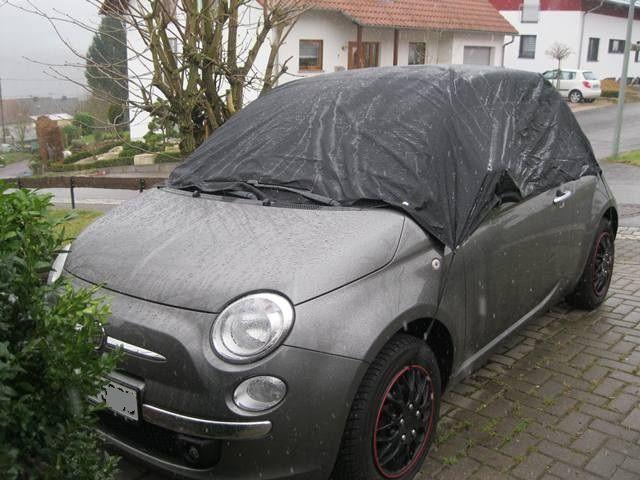 Wasserdichte Halbgarage für Fiat 500 | kfz-schutzdecken.de