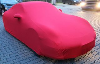 Red AD-Cover ® Mikrokontur with mirror pockets for Porsche 991 Coupe / Cabrio