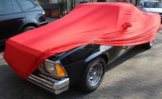 Red AD-Cover ® Mikrokontur with mirror pockets for Chevrolet El Camino 1978-1987