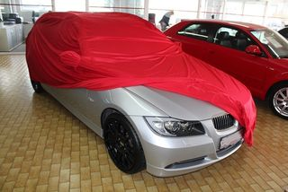 Car-Cover Samt Red with Mirror Bags for BMW 3er (E46) Bj. 98-05