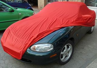 Car-Cover Samt Red with Mirror Bags for Mazda MX 5...