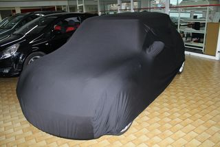 Black AD-Cover ® Mikrokuntur with mirror pockets for BMW...