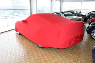 Red AD-Cover ® Mikrokontur with mirror pockets for Porsche 997 GT2