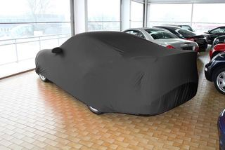 Black AD-Cover ® Mikrokuntur with mirror pockets for Porsche 997 GT2