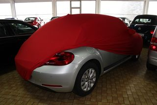 Red AD-Cover ® Mikrokontur with mirror pockets for VW Beetle 2011