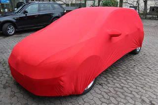 Red AD-Cover ® Mikrokontur with mirror pockets for VW Golf 7