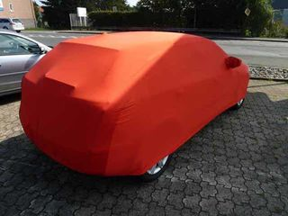 Red AD-Cover ® Stretch with mirror pockets for Audi A3 Sportback ab 2012