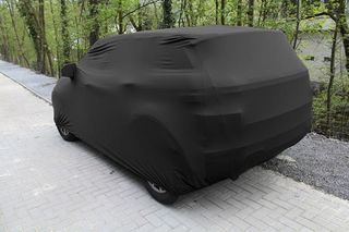 Black AD-Cover ® Mikrokuntur with mirror pockets for Range Rover Evoque