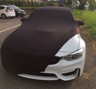 Black AD-Cover ® Mikrokuntur with mirror pockets for BMW 3er F80