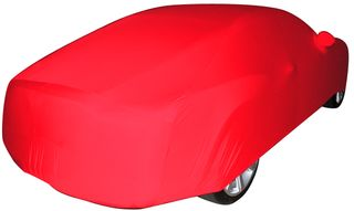 Red AD-Cover ® Mikrokontur with mirror pockets for Bentley Continental GTC Cabrio