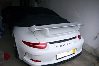 Black AD-Cover ® Mikrokuntur with mirror pockets for Porsche 991 GT3