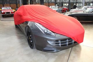 Red AD-Cover ® Stretch with mirror pockets for Ferrari FF