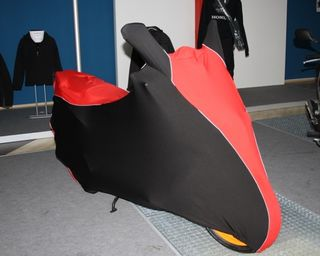 Perfect tailored motorcycle protective cover with mirror pockets for Honda NSC50R