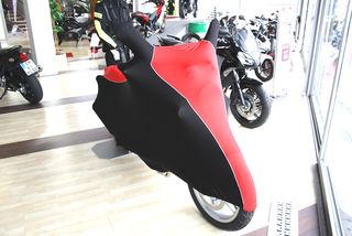 Perfect tailored motorcycle protective cover with mirror...