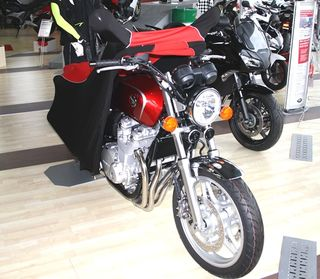 Perfect tailored motorcycle protective cover with mirror pockets for Honda CB1100