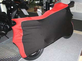 Perfect tailored motorcycle protective cover with mirror pockets for Honda CBR 125R