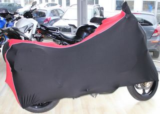 Perfect tailored motorcycle protective cover with mirror pockets for Suzuki V Strom