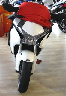 Perfect tailored motorcycle protective cover with mirror pockets for Honda VFR1200 FD