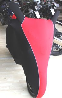Perfect tailored motorcycle protective cover with mirror pockets for Hyosung GT 650S