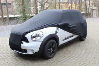 Black AD-Cover ® Mikrokuntur with mirror pockets for Mini Countryman