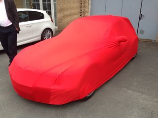Red AD-Cover ® Mikrokontur with mirror pockets for BMW Z3 Coupe