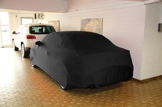 Black AD-Cover ® Mikrokuntur with mirror pockets for Audi A3 Cabrio 2014