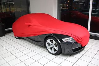 Red AD-Cover ® Mikrokontur with mirror pockets for Z4 BMW E86 Coupe