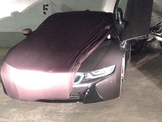 Black AD-Cover with mirror pockets for BMW i8
