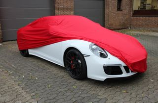 Car-Cover Samt Red for Porsche 991