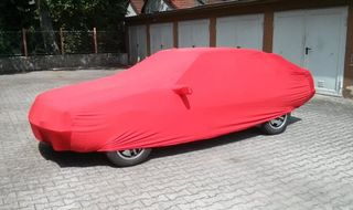 Red AD-Cover ® Mikrokontur with mirror pockets for Renault Fuego
