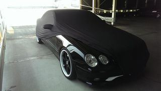 Black AD-Cover ® Mikrokuntur with mirror pockets for Mercedes CL-Klasse