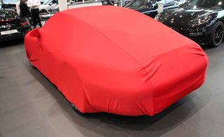 Movendi Car-Cover Satin Red with mirror pockets for Porsche 997