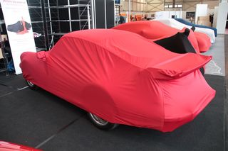 Car-Cover Samt Red with Mirror Bags for Porsche 964 RS 3,8