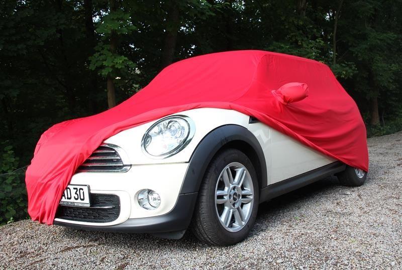 Autoabdeckung Vollgarage Car Cover Samt Red Mit Spiegeltasche Für