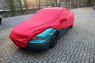 Car-Cover Samt Red with Mirror Bags for Opel Calibra