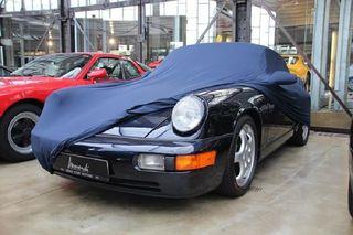 Blaue Vollgarage Ganzgarage Car-Cover mit Spiegeltaschen für Porsche 911 930