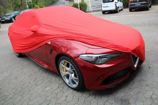 Red AD-Cover ® Mikrokontur with mirror pockets for Alfa...
