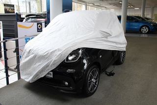 Tyvec Car-Cover with mirror Pokets for Smart up to 2015