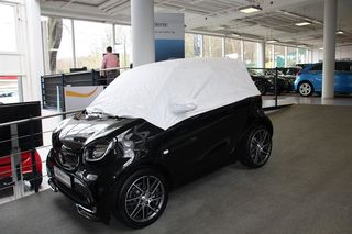 Tyvek half Car-Cover with mirror pockets for Smart up to...