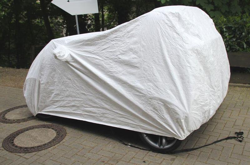 Tyvek Sommer Außen Ganzgarage Car-Cover mit Spiegeltaschen für Smart Crossblade