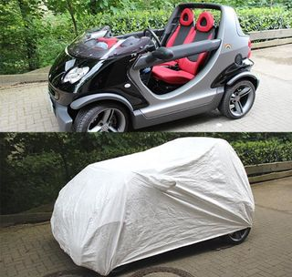 Tyvec Car-Cover with mirror Pokets for Smart Crossblade