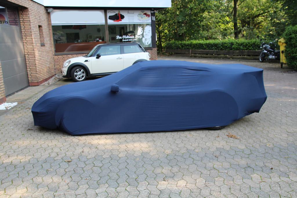 Blaues Sportwagen Car-Cover für Alpine A310S von KFZ-Schutzdecken.de