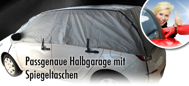 halbgarage mit spiegeltaschen f r skoda fabia halb. Black Bedroom Furniture Sets. Home Design Ideas